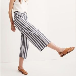 Madewell Pull-On Linen Crop Pants